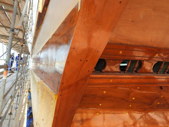 Painting detail of dhow vessel